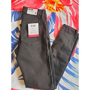 Size 1- Miami high rise super skinny jeans- Black